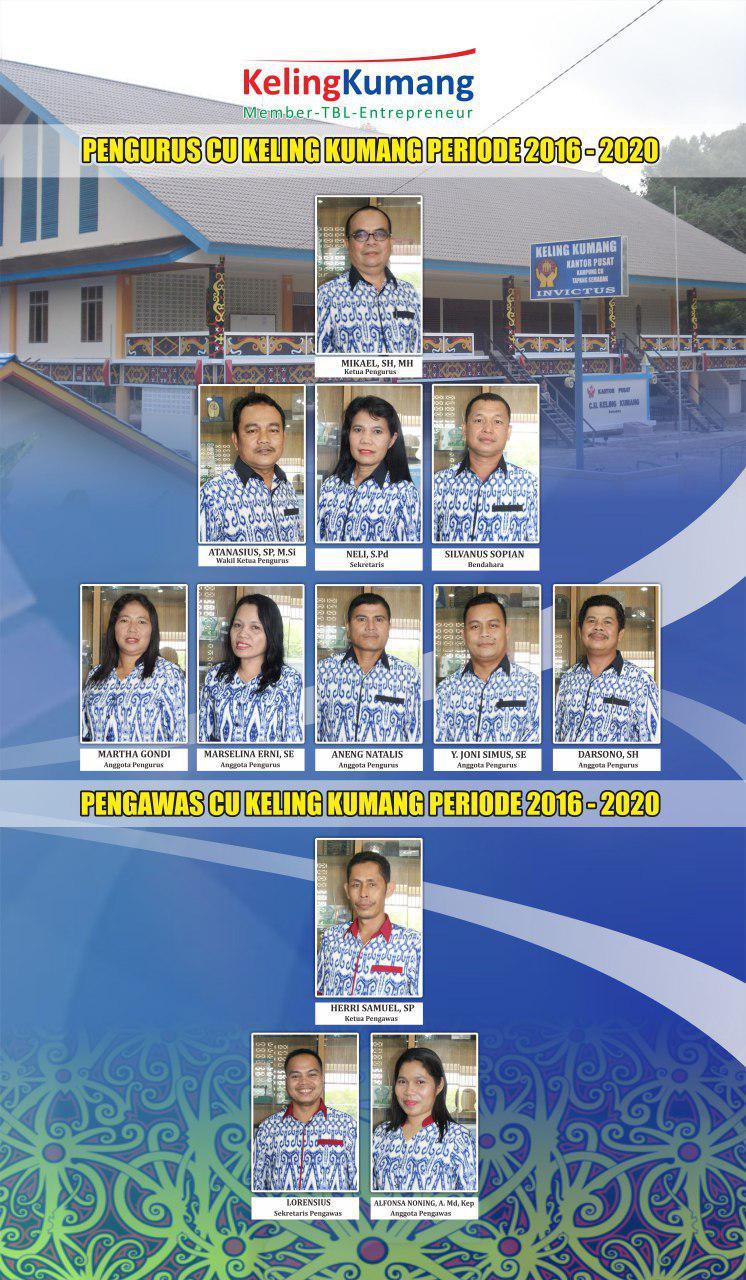 Pengurus dan Pengawas CU Keling Kumang periode 2016-2020